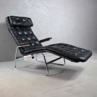 Fotel vintage, szezlong, Sam Larsson, Szwecja, lata 70.