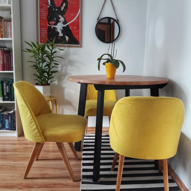 3 Fotele Retro Vintage Prl żółte Po Renowacji Patynapl