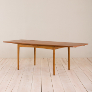 2020-Danish teak extension table with rounded edges-2