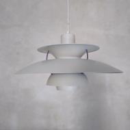 2041 Biała lampa PH5 proj. P. Henningsen, model z lat 80. 3