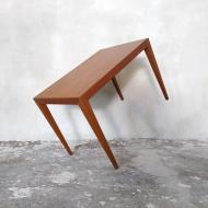 2043 Teak side coffee table by S. Hansen for Haslev, Denmark, 60s 1