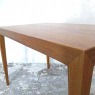 2043 Teak side coffee table by S. Hansen for Haslev, Denmark, 60s 8