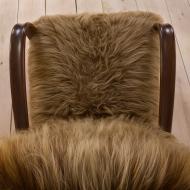 2044 Pair of Halabala 269 lounge chairs in long hair sheepskin (Chewbacca)-11