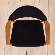 2072 Erik Kierkegaard oak chair in dark blue wool-12