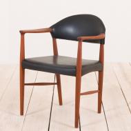 2073 Erik Kierkegaard teak  chair in black leather-4