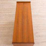21023--Scandinavian sideboard in teak with 5 drawers and sliding doors, Norway, 70s-Sideboard tekowy skandynawski, komoda 5 szuflad, Norwegia, lata 70-11