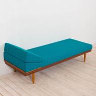 21025--Teak Daybed Svanette with Side Table by Ingmar Relling for Swane Ekornes, 1960s-Svanette Daybed vintage łóżko sofa proj. I Relling H. Vik, oryginalna tapicerka, Swane Ekornes Norway, lata 60-10