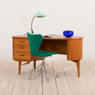21032 - organic shape teak desk free standing-2