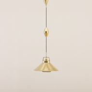 21039-Lyfa brass adjustable height pendant lamp -1