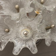 21042-Wall sconces by Venini, pair of floral lamps with murano shades-4