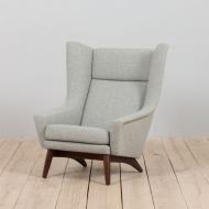 21071 Vintage Danish Model 4410 Armchair by Folke Ohlsson for Fritz Hansen, 1950s-1