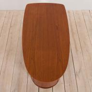 21073 Bullet shape teak Danish desk by H.P. Hansen-15