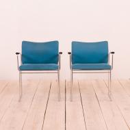 21086 Pair of Jano chairs by Kazuide Takahama for Gavina, Italy 70s-3