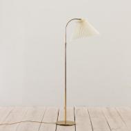 21088 Danish brass floor lamp with Le Klint shade, adjustable height-1