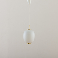 21096 Orrefors Gubi style glass pendant with brass details-1