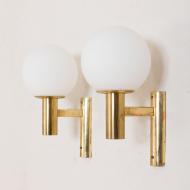 21097 Pair of Gaetano Sciolari brass wall sconces, modern vintage wall lamps, Italy 1960s-3