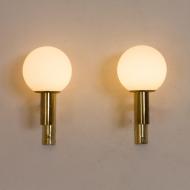 21097 Pair of Gaetano Sciolari brass wall sconces, modern vintage wall lamps, Italy 1960s-6
