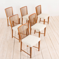2112 komplet 6 orzechowych krzeseł Fritz Henningsen-13