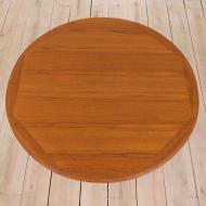 21133 vintage Danish teak round extension table grom 1960s-13