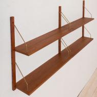 21136 Sorensen Cadovius style teak shelving system set of 4 -9