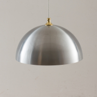21137 Mid century aluminium lamp with brass top-1