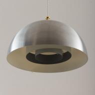 21137 Mid century aluminium lamp with brass top-3