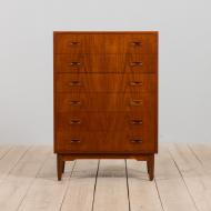 21158 Danish mid century dresser in teak, vintage chest of drawers, 1960s-3