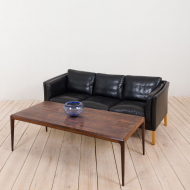 21168 Vintage Danish Stouby sofa in thick black aniline leather-2