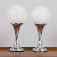 21180 Pair of chrome table lamps by Geofredo Regiani-10