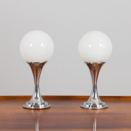 21180 Pair of chrome table lamps by Geofredo Regiani-3