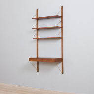 21185 Poul Cadovius teak wall unit with a desk and 3 shelves, Denmark, 1960s-4