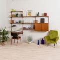 2120 Kai Kristiansen FM Wall Unit in teak with cabinet and desk-shelf-1