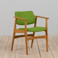 21203 Vintage Danish oak chair Attr. to Erik Kirkegaard, Denmark 1960s.-1