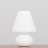 21225 Big Mushroom Venini table lamp, swirl Murano glass, Italy 1960s-1