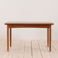 2125 Rectangular teak extension table with rounded edges-2