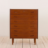2127 Danish teak chest of drawers with from the 60s-1