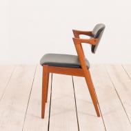 2130 Kai Kristiansen teak chair model 42 in black leather-4