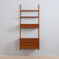 21304 Poul Cadovius Danish wall unit with  chest of drawers, a console and 2 shelves, 60s-3