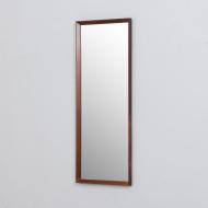 21321 Mid century Scandinavian rosewood mirror frame Aarhus Glasimport nr.149 26-4, Denmark, 1960s-2