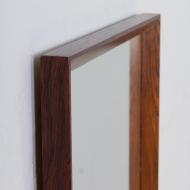 21321 Mid century Scandinavian rosewood mirror frame Aarhus Glasimport nr.149 26-4, Denmark, 1960s-4