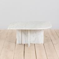 21326 Italian white marble vintage coffee table-2 (1)