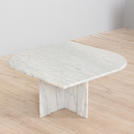 21326 Italian white marble vintage coffee table-3