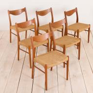 2133 Six chairs by arne Wahl Iversen for Glyngore Stolefabrik-3