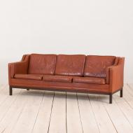 2138 Mogensen Hansen 3 seater sofa in cognac leather-1