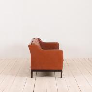 2138 Mogensen Hansen 3 seater sofa in cognac leather-3