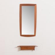 2149 lustro małe w tekowej ramie z konsolką-7
