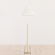 2158 Brass floor lamp with le klint shade-9