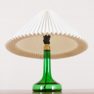 2159 Holmegaard deep green glass lamp with Le Klint shade-12