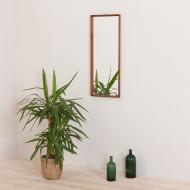 2160 Danish minimalist teak mirror frame in mid century style, 60s-1