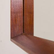 2160 Danish minimalist teak mirror frame in mid century style, 60s-5